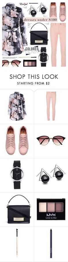 """Rosegal 22"" by anyasdesigns ❤ liked on Polyvore featuring Balenciaga, Hillier Bartley, NYX, Chantecaille and Smashbox"