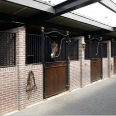 Brick stables. How nice itd be to be rich enough to afford stables like this