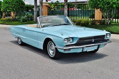 We are open to offers and trades.  Call Derek at 727-361-8026 for details!  1966 Ford Thunderbird ConvertibleBright Powder Blue Exterior and Cream Color InteriorThis Convertible is powered by a 390-CID Thunderbird Special V-8 Engine that is backed by a Cruise-o-Matic Automatic TransmissionThe Ford has Bucket Seats with Center Console, Swing Away Steering Column, Factory Wheel Covers,Am Radio, Power Windows, Power Steering, Power Brakes, and a Power Convertible Top That Disappears below the…