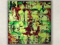 Abstrakte Gemälde Acrylbilder Bunt UNIKAT 80 x 80 Acrylbild Abstrakt moderne Zeitgenössische Malerie