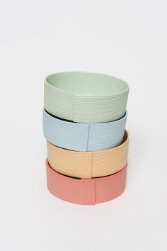 Bandbowl - porcelain bowl, design Pi Bjørg