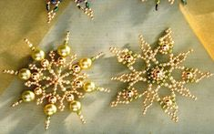 Many beaded snowflake patterns http://www.ecrafty.com/casearch.aspx?SearchTerm=snowflake