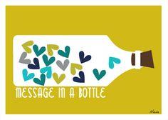 Message in a bottle - voor welke lieve boodschap dan ook! *Studio Nons*