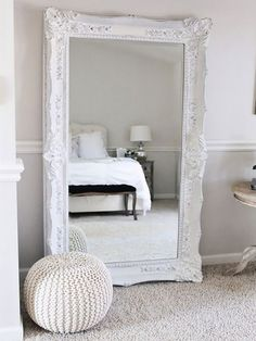 Master bedroom is the main bedroom in your home. As its name, it should get the best design and decor for the interior. There many parts of the master bedroom that you can decor besides the bed, like Bedroom Furniture, Bedroom Decor, Bedroom Ideas, Bedroom Mirrors, Bedroom Storage, Big Mirror In Bedroom, Bedroom Styles, White Furniture, Nice Bedrooms
