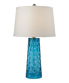 Take a look at this Blue Hammered Glass Table Lamp today!