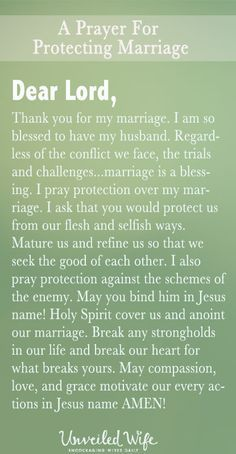 Prayer Of The Day - Protecting My Marriage