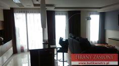 nowoczesna dekoracja salonu #firany i #zasłony w nowoczesnym apartamencie