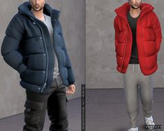 Oversized Puffer Jacket (P) by for The Sims 4 Sims 4 Men Clothing, Sims 4 Male Clothes, Sims 4 Hair Male, Sims 4 Toddler Clothes, Sims 4 Black Hair, Toddler Outfits, Uni Outfits, Men Clothes, Sims 4 Mac