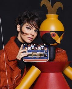 Lily Donaldson, Kendall Jenner by Karl Lagerfeld for Fendi Fall Winter 2015-2016 4