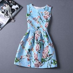 Summer Stuly Casual Print Dress Women Fashion Printing Sleeveless Vest Dress Vestidos Vintage Woman tutu Svestido Party Dresses-in Dresses from Women's Clothing & Accessories on Aliexpress.com | Alibaba Group