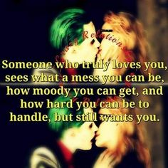 True and if they truly love you won't treat u like joker did Harley. just saying True and if they truly love you won't treat u like joker did Harley. Joker Love Quotes, Dark Love Quotes, Badass Quotes, Quotes To Live By, Bitch Quotes, True Quotes, Harly Quinn Quotes, Harley And Joker Love, Thats The Way