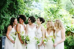 An All White Bridal Party