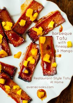 Yes, you can barbeque anything . even tofu. Try this Barbeque Tofu with Pineapple and Mango recipe for a quick but flavorful tofu meal. This recipe even shows you a delicious Korean bbq marinade. Tofu Recipes, Gluten Free Recipes, Vegetarian Recipes, Cooking Recipes, Cooking Kale, Delicious Recipes, Vegan Vegetarian, Snack Recipes, Vegan Food List