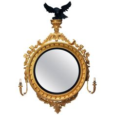 George iv Design Eagle Convex Mirror   From a unique collection of antique and modern convex mirrors at https://www.1stdibs.com/furniture/mirrors/convex-mirrors/