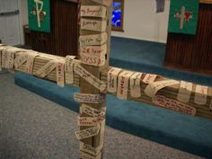 PRAY FOR CHILDREN WHOSE FAMILIES ARE BROKEN. All you need is a makeshift cross and a few plasters/band-aids. Say a prayer as you place one on the cross. The strips represent our own human brokenness and the presence of God in the midst of suffering.