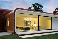 Home by Casanueva Arquitectos in Spain. Small Tiny House, Modern Tiny House, Tiny House Design, Small Buildings, Modern Buildings, Modular Homes, Prefab Homes, Casas Containers, Portable House