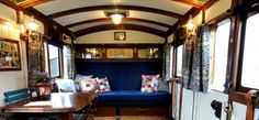 High Cross Camping Coach, Netherbury, Nr. Bridport, Dorset - self catering accommodation - the Saloon