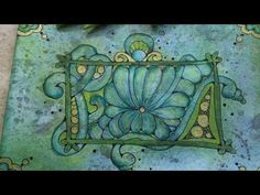 More Fun with Dingbatz Zentangle Technique on a distressed tile 🌿 - YouTube