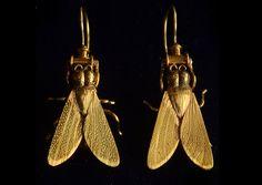 1880s victorian fly earrings @eriebasin