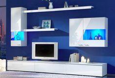blue, white
