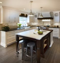 Transitional - Uptown Country Kitchen - Basking Ridge NJ - transitional - Kitchen - New York - TrueLeaf Kitchens