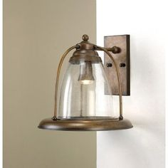 Lustrarte Lighting Sino 1 Light Outdoor Wall Lantern Finish: Antique Green