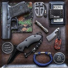 @Regrann from @para_dime -  The Dark Rose v. 2  Dark Knight Lanyard  Camo Hank  Wasteland Oddities Beverage Cleaver w/Handcrafted Leather Tag  Maratac AAA Flashlight in Titanium  Dragon Cut Crusader Multi-Tool in Anodized Titanium w/Lanyard & Ti Bead  DTOM Challenge Coin  QTRMSTR QSE-4TT Mr. Furley  Available From:  http://ift.tt/1BEEC5p  Also Featured:  @hellbentholsters CW 2.5  Glock 43 w/Custom Stippling  #guns #gunporn #sickguns #weaponsdaily #weaponsreloaded #ar15 #gun #Merica…