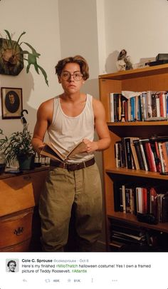 Cole Sprouse's Halloween Costume is Beyond Adorkable   - Seventeen.com