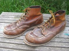 RED WING Style # 875 LEATHER CREPE SOLE WORK BOOTS 12 EE #RedWing #WorkSafety