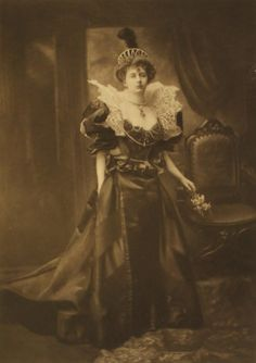 Lady Vincent as a character from a Dutch painting; one of the 200 guests in fancy dress at the the Duchess of Devonshire's Diamond Jubilee Costume Ball, 1897.