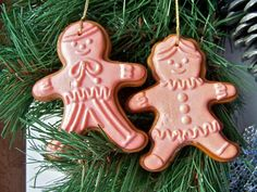 Vintage Avon Gingerbread Wax Ornaments 1981