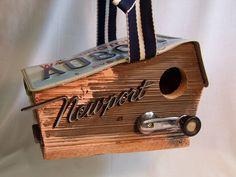 OOAK Handcrafted Birdhouse Classic Car Parts Repurposed Barnwood Newport | eBay