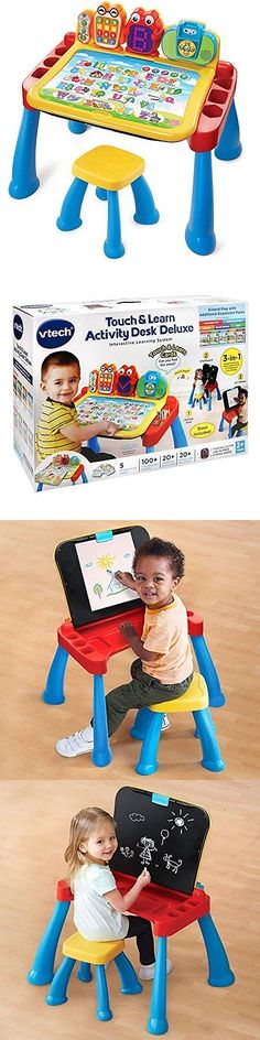 Desks 115750: Vtech Touch And Learn Activity Desk Deluxe Childrens Desk Chair Set, New -> BUY IT NOW ONLY: $52.11 on eBay!