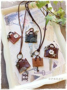 Mini handbag keyrings