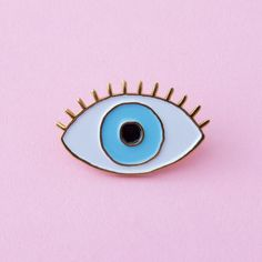 lucky blue eye enamel pin from ban.do
