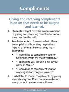 Teach Students to Give and Receive Compliments Parenting Goals, Parenting Teens, Parenting Quotes, Parenting Hacks, Perfect Attendance Certificate, Teacher Images, Summer Reading Program, Positive Discipline, Social Skills
