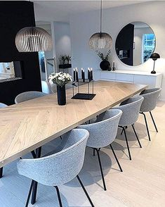 Gorgeous Best Minimalist Dining Room Design Ideas For Dinner With Your Family. Luxury Dining Room, Dining Room Design, Dining Room Furniture, Dining Suites, Dining Chairs, Wooden Furniture, Chairs For Dining Table, Furniture Storage, Design Furniture