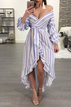 MERI MAXI DRESS Chic Summer Outfits, Classy Outfits, Casual Outfits, Belted Shirt Dress, Maxi Wrap Dress, Nice Dresses, Casual Dresses, Fashion Dresses, Looks Rockabilly