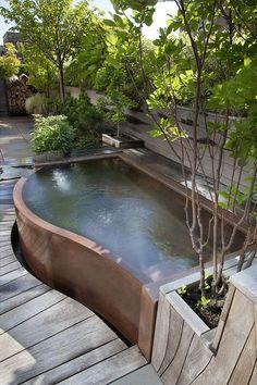 piscina elevada curva