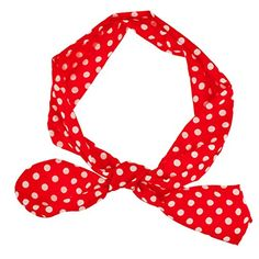 Lux Accessories Red White Polka Dot Tie Headband Head Band * Check out this great product.Note:It is affiliate link to Amazon.