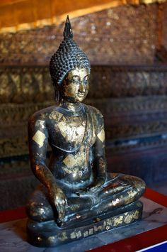 Buddha located at Wat Pho, Bangkok, Thailand