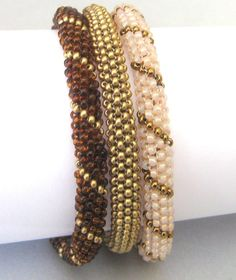 beadwoven stackable bangles