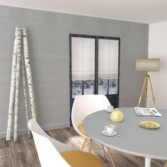 papier peint new infinity gris perle ou bleu glacier pour les placards. en accord avec fjord ou triangle&wood