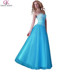 Cheap dress chain, Buy Quality dresses ladies directly from China dress cutout Suppliers:    Blue Pink White Grace Karin Long Vestido Festa Longo Noite Corset Sparkly Tull Sequin Ball Gowns Wedding Party Prom D