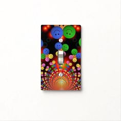 Find Colorful light switch covers on Zazzle. Check out our wonderful designs and spruce up your home décor with our wall switch plates! Custom Lighting, Light Switch Covers, Smiley, Light Up, Colorful Backgrounds, Spiral, Polymer Clay, Face, Happy