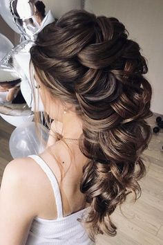 elegant wedding hairstyles half up half down oksana sergeeva stilist #weddingmakeup