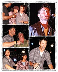 Jensen Singing. I'd have killed to be there. it was Chris Kane's bday I believe. YUUUM.