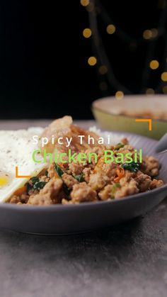 Spicy Thai chicken basil (Pad Kra Pao Gai) is a flavorful chicken basil stir fry with Thai spices. Sweet, spicy, and savory spices seep into the chicken pieces mix with Thai Basil. Complete it with the warm rice and crispy yolk fried egg on top. It's a quick and easy stir fry that's super delicious!