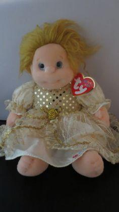 Ty-Beanie-Kids-Precious-with-Princess-Dress-Blonde-Blue-Eyes
