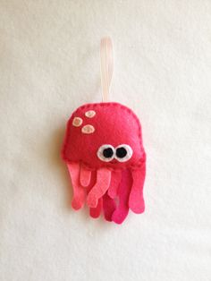 Jelly Fish Felt Ornament // By Red Marionette